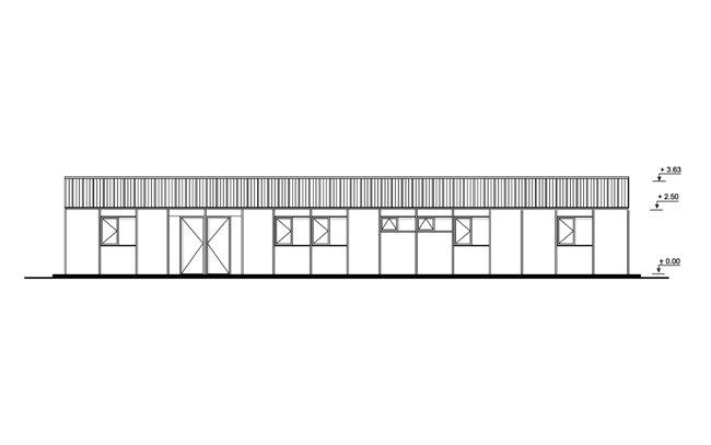 154.81 m² Prefabrik Ofis