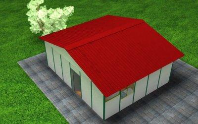 48.64 m2 Prefabrik Ofis