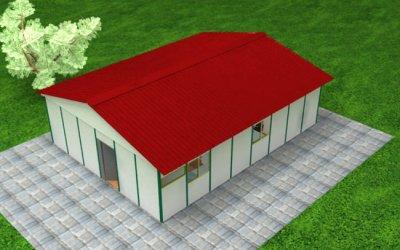 77.60 m² Prefabrik Ofis 2